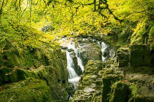 Бесплатные фото осень,водопад,скалы,лес,деревья пейзаж