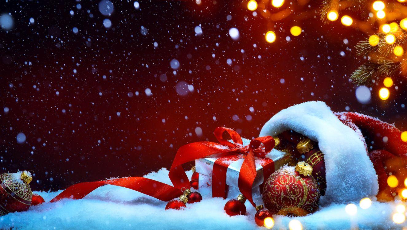 Фото бесплатно украшения, новогодняя декорация, фон - на рабочий стол