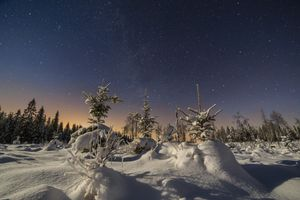 Фото бесплатно снег, ночь, закат