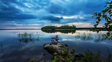 Фото бесплатно облака, острова, пейзажи