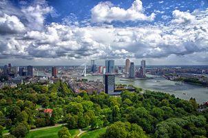 Фото бесплатно Нидерланды, Роттердам, Мост Эразма