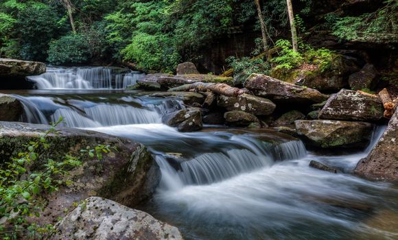 Фото бесплатно водопады, река, пейзаж