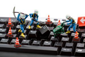Фото бесплатно компьютер, строительство, смешно