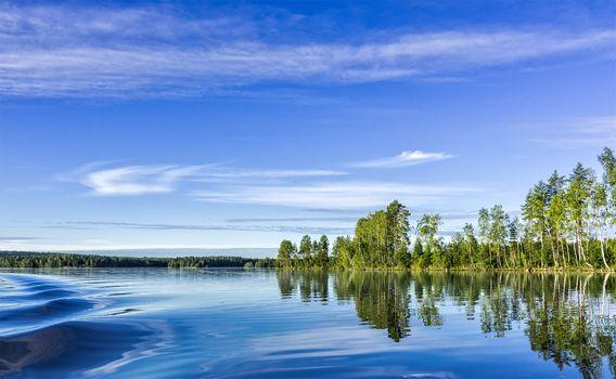 Фото бесплатно Finland, озеро, небо, отражение, лес, деревья, природа, пейзаж