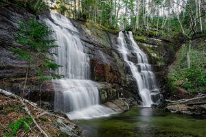 Бесплатные фото водопад,лес,скалы,течение,водоём,природа,пейзаж