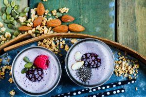 Фото бесплатно йогурт, овсянка, орехи