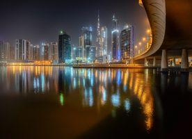 Фото бесплатно освещение, ночные города, ночной город