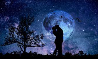 Заставки ночь, сияние, планета
