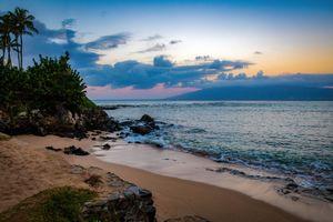 Бесплатные фото Остров Молокаи,Maui,Гавайи,Kapalua Beach,остров,пляж,закат солнца