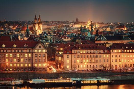 Фото бесплатно Прага, Пражский Град, ночь