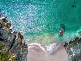 Заставки побережье, океан, вид с птичьего полета