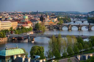 Красивый город Чехия Прага