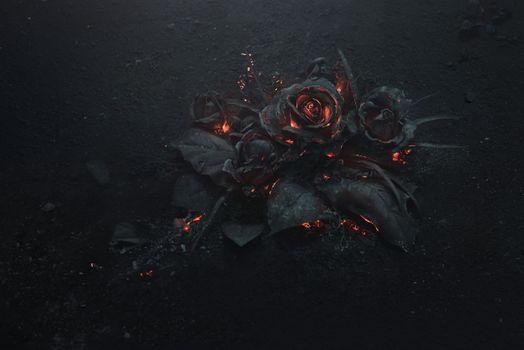 Розы из вулканической лавы