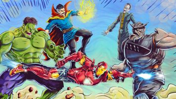 Заставки Мстители, Железный Человек, Халк