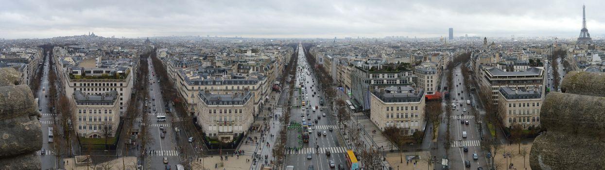 Бесплатные фото Париж,Франция,улицы,дома,автомобили,люди,дороги,развилка,центр,движение,город,панорама