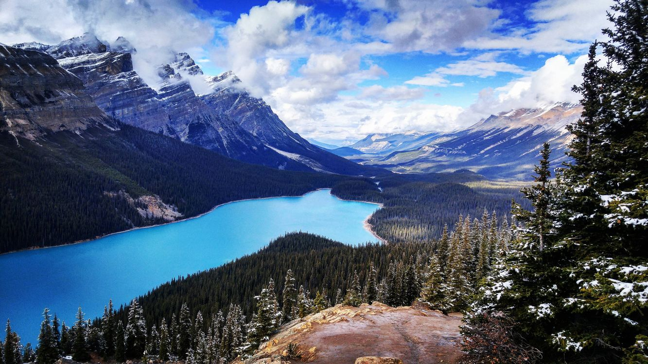 Photos for free clouds, Banff National Park, Alberta - to the desktop