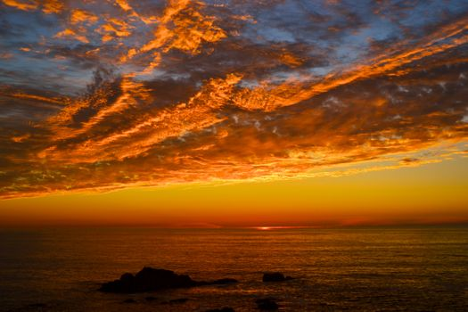 Photo free sky, coast state Park SONOMA coast, twilight