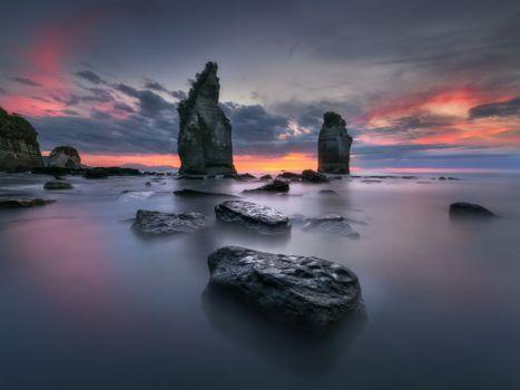 Бесплатные фото australian landscape,tasman national park,tasmania,море,закат,пляж,скалы,природа,пейзаж