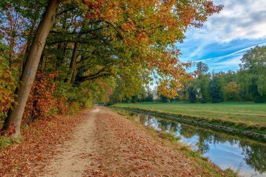Photo free channel, path, sky