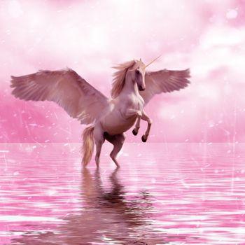 Фото бесплатно пегас, единорог, крылья