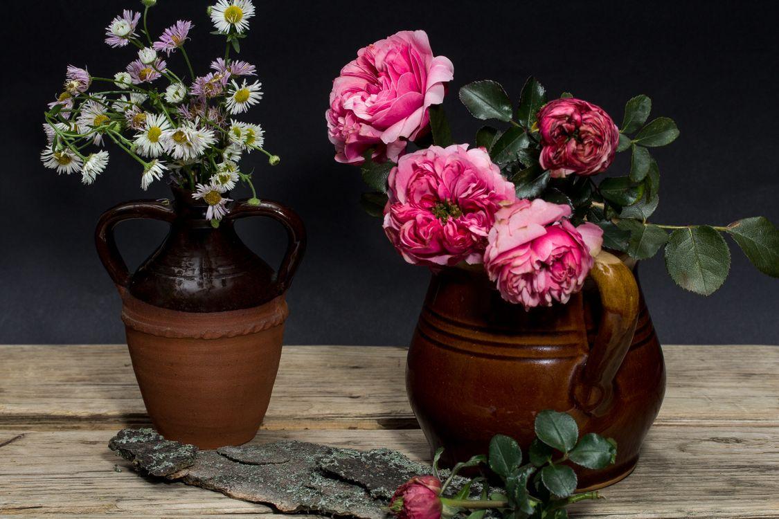 Фото бесплатно стол, ваза, цветы, пионы, натюрморт, цветы