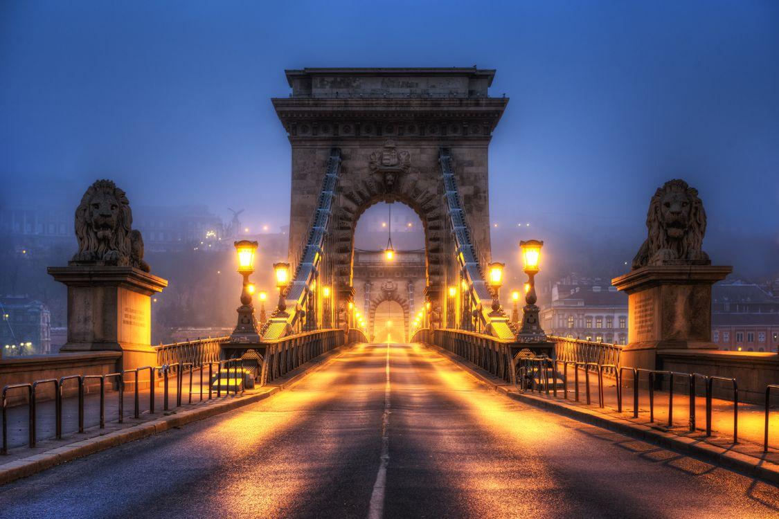 Фото бесплатно Chain Bridge, Hungary, Budapest, город
