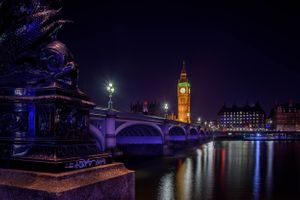 Бесплатные фото England,London,Westminster,Westminster Bridge,Big Ben,ночные города