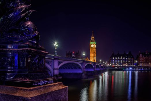 Photo free night city, Westminster Bridge, Westminster