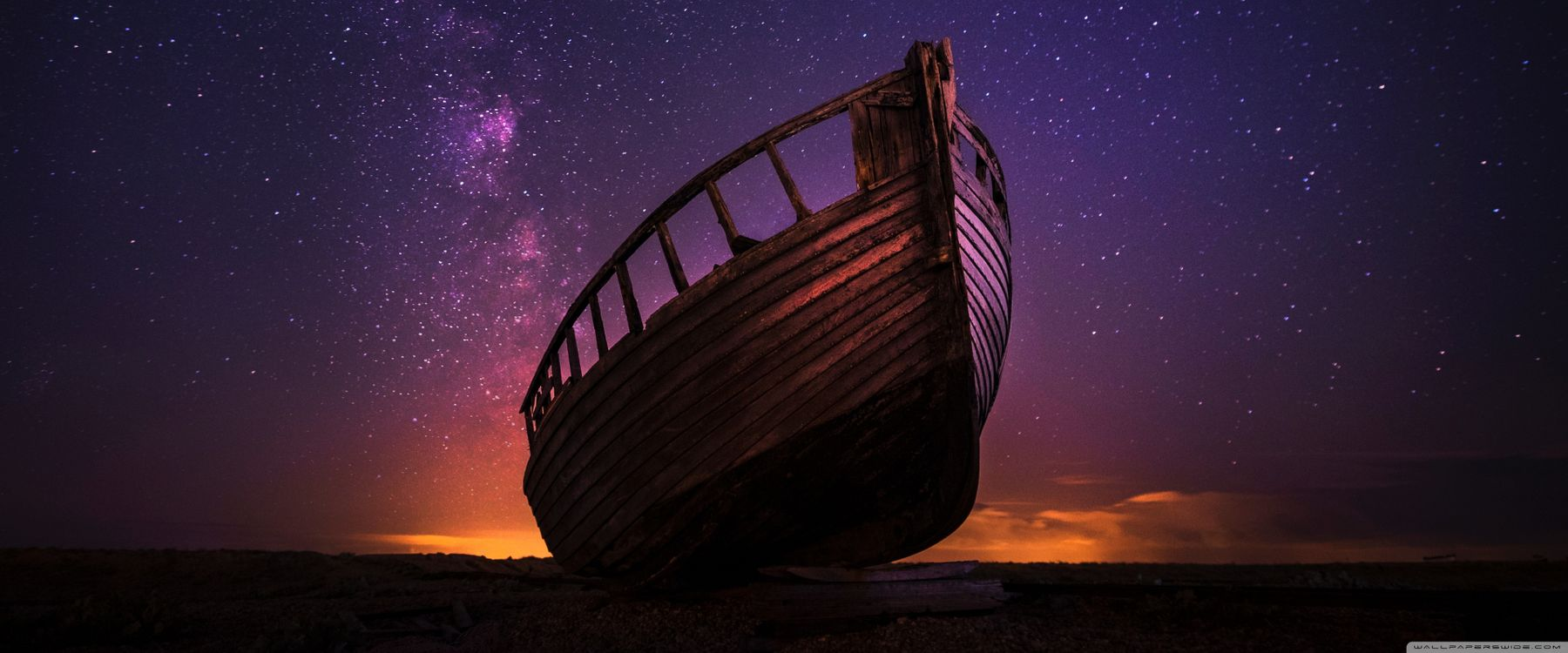 Photos for free Night, ship, stars - to the desktop