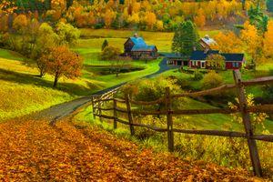 Фото бесплатно дома, пейзаж, осень