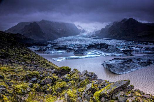Фото бесплатно Эрайвайёкюдль, Исландия, ледник