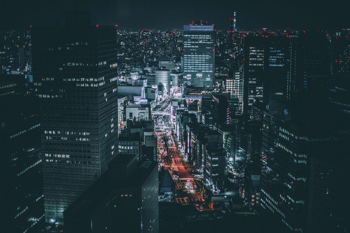 Фото бесплатно Tokyo, ночь, Photography - на рабочий стол