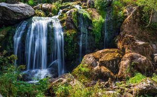 Заставки Triberg Waterfall, водопад, речка