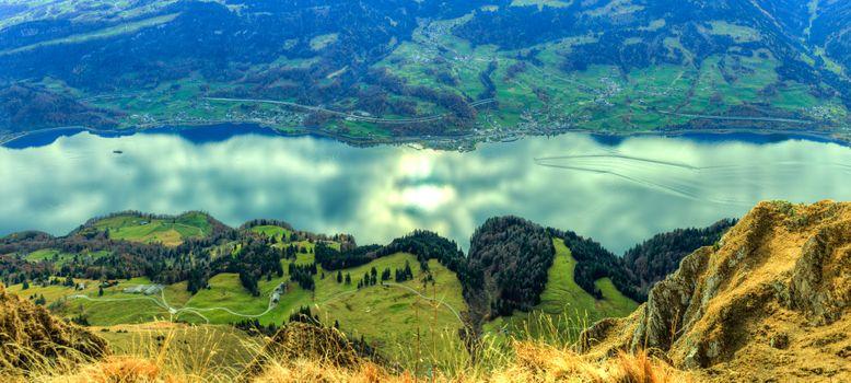 Фото бесплатно Walensee, озеро, Швейцарские Альпы