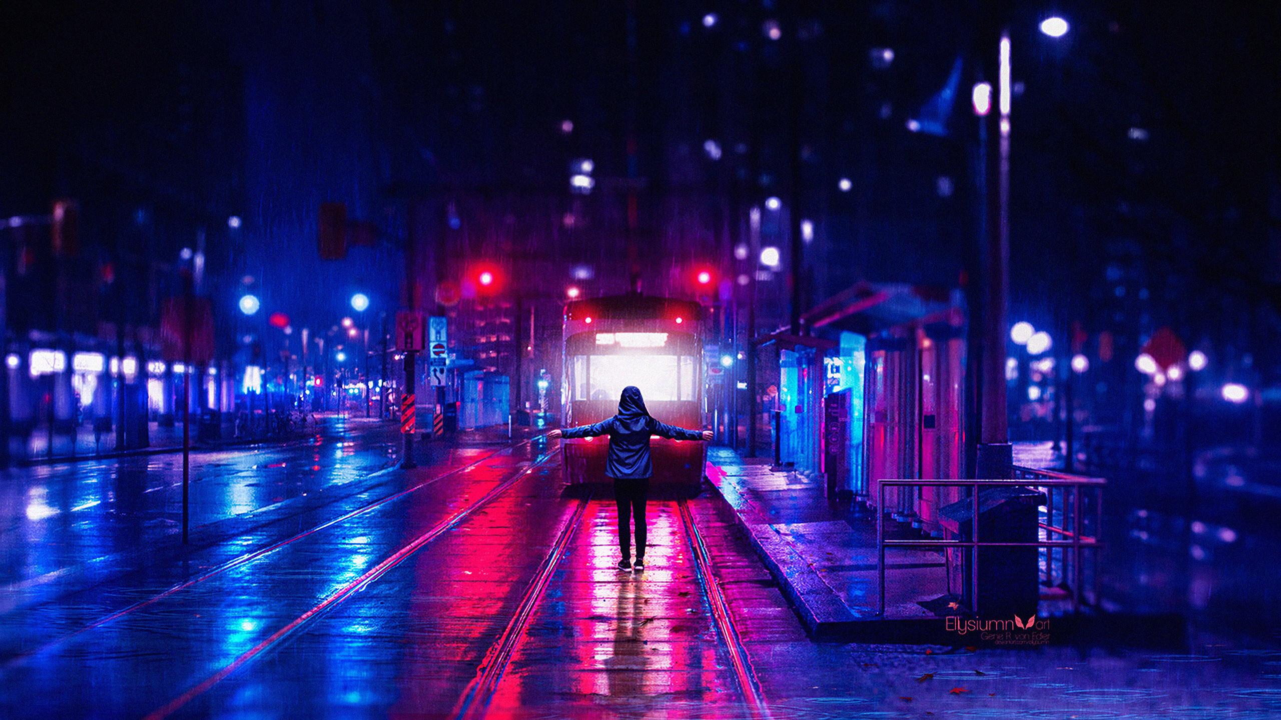 картинки на рабочий стол ночь дождь сохранившихся фотографиях она