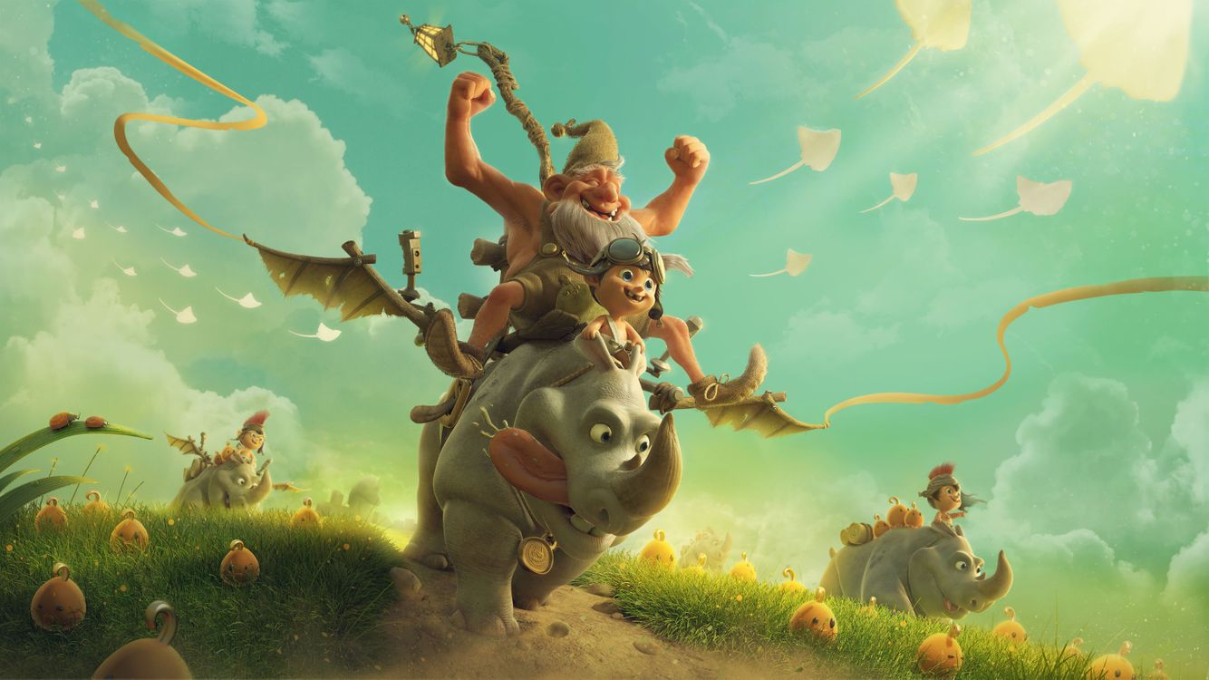Верхом на носороге · бесплатное фото