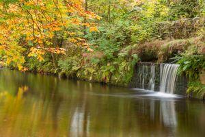 Заставки осень, водоём, водопад