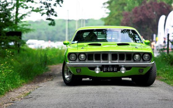 Green Plymouth Barracuda · free photo