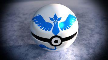 Фото бесплатно pokeball покемон вперед, команда мистик, шар