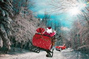 Photo free Christmas decorations, elements, landscape