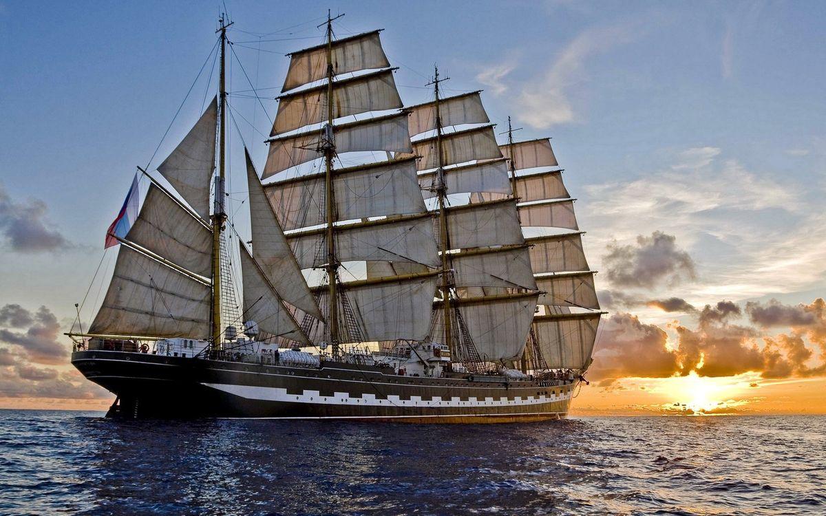 Photos for free sailing, sea, sailboat - to the desktop