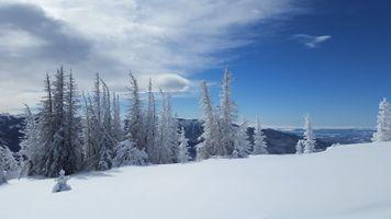 Заставки зима горы, снег деревья, сугробы