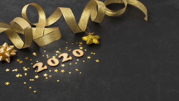 Photo free new year streamer, lettering, greeting card