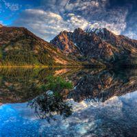 Заставки пейзаж, закат, национальный парк Гранд-Титон