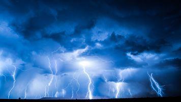 Фото бесплатно молния, ночь, вспышка