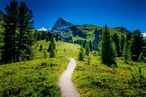 Бесплатные фото Умхаузен,Тироль,Австрия,Umhausen,горы,деревья,тропинка