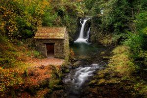 Заставки Амблсайд,Lake District National Park,England,осень,река,течение,камни