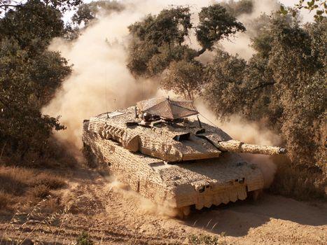 Photo free Tank, Abrams, sand