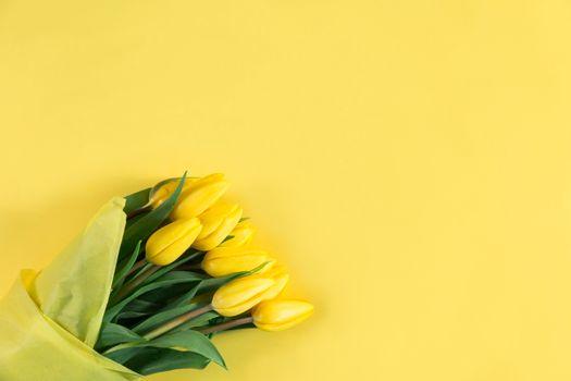 Photo free bouquet, tulips, yellow
