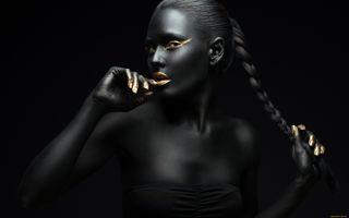Фото бесплатно Девушка, креатив, чёрный
